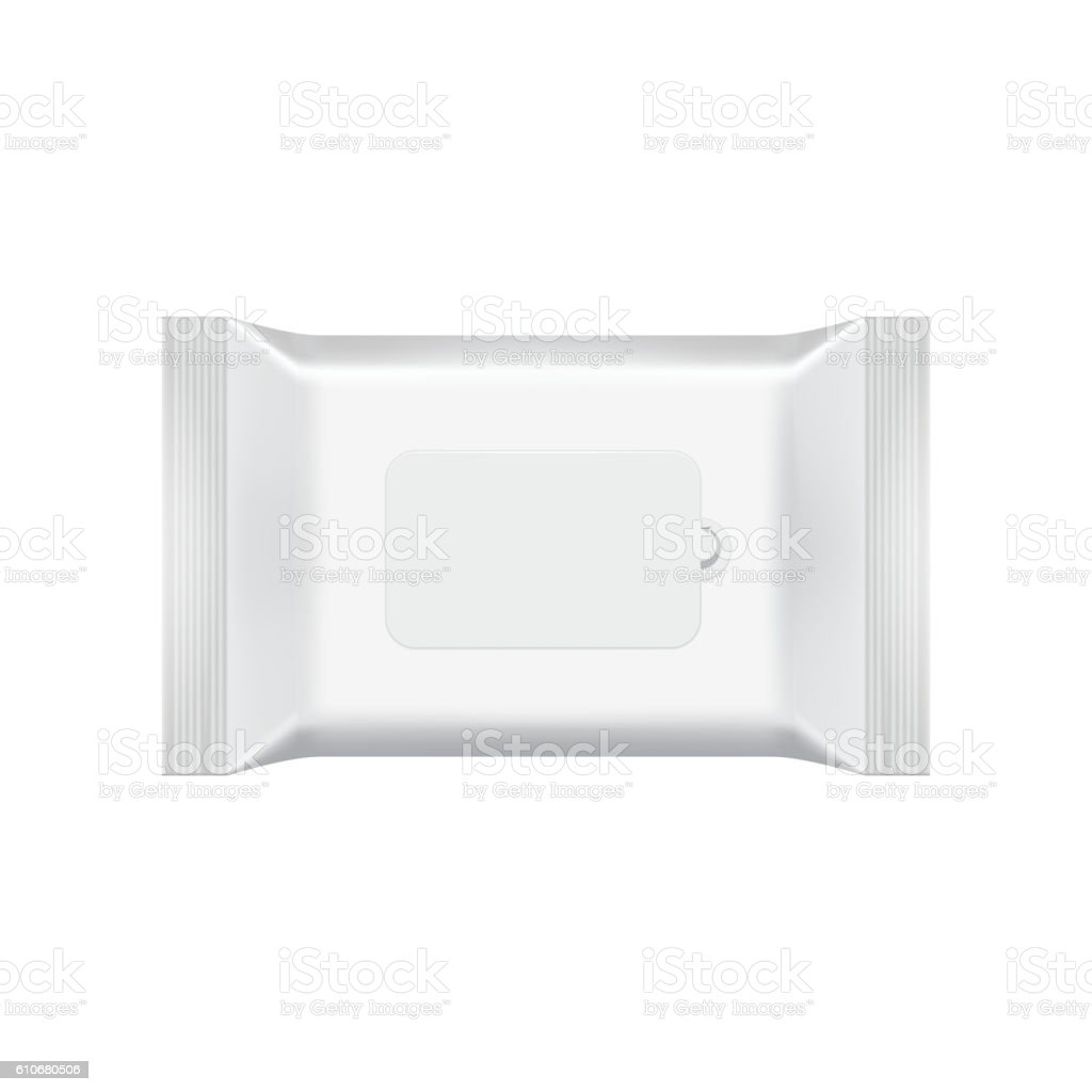 Blank packaging template mockup isolated on white. vector art illustration