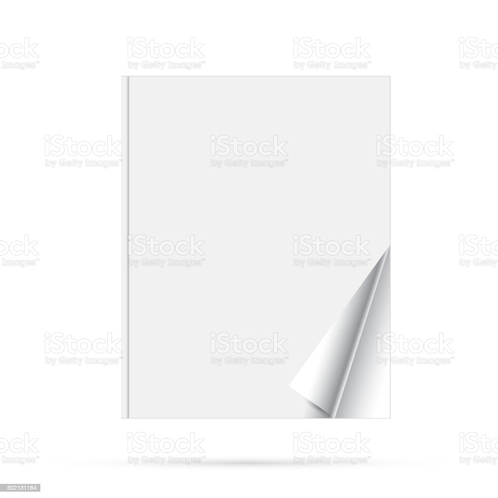 Blank page of magazine vector art illustration