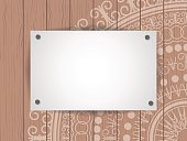 blank page on wood background with space for text