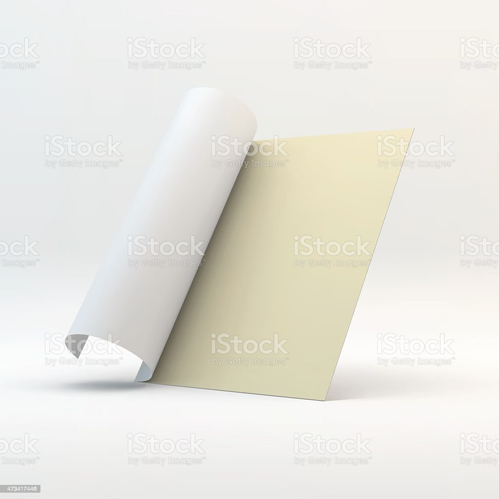 Blank page template for design layout. 3d vector illustration. vector art illustration