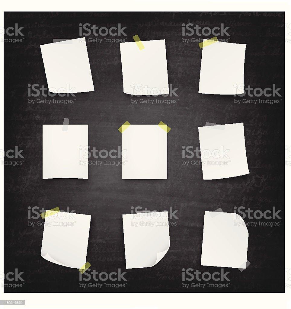 Blank paper Blackboard - Chalkboard vector art illustration