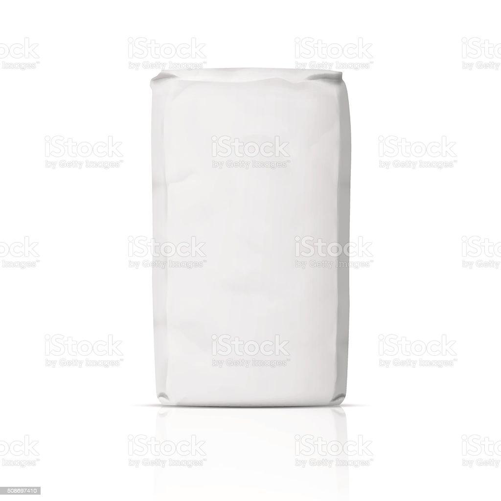 Blank paper flour bag. vector art illustration