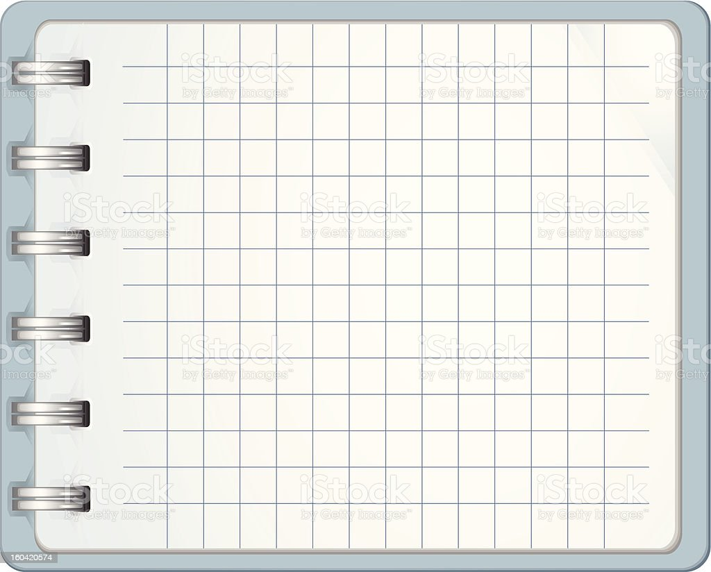 Blank Paper Notebook royalty-free stock vector art