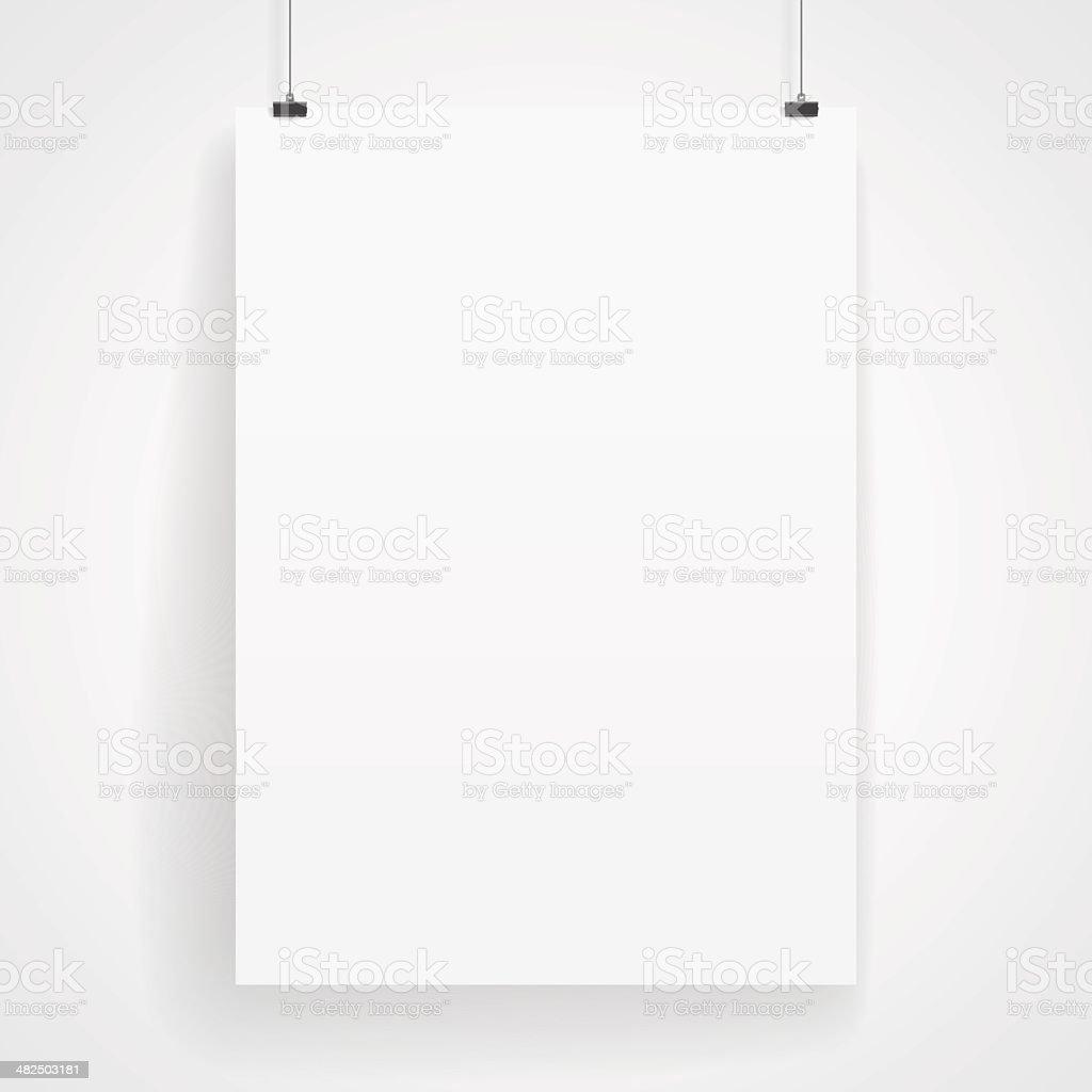 Blank paper poster vector art illustration