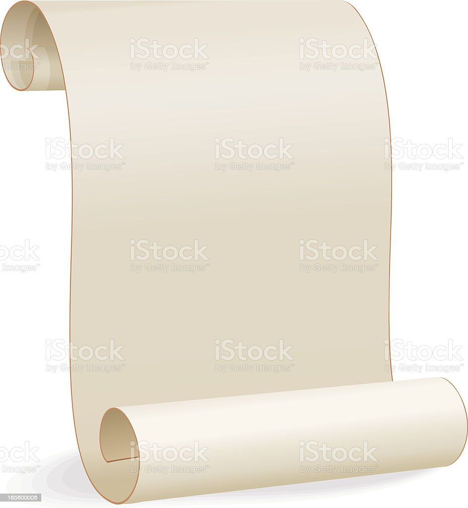 Blank Paper Scroll vector art illustration