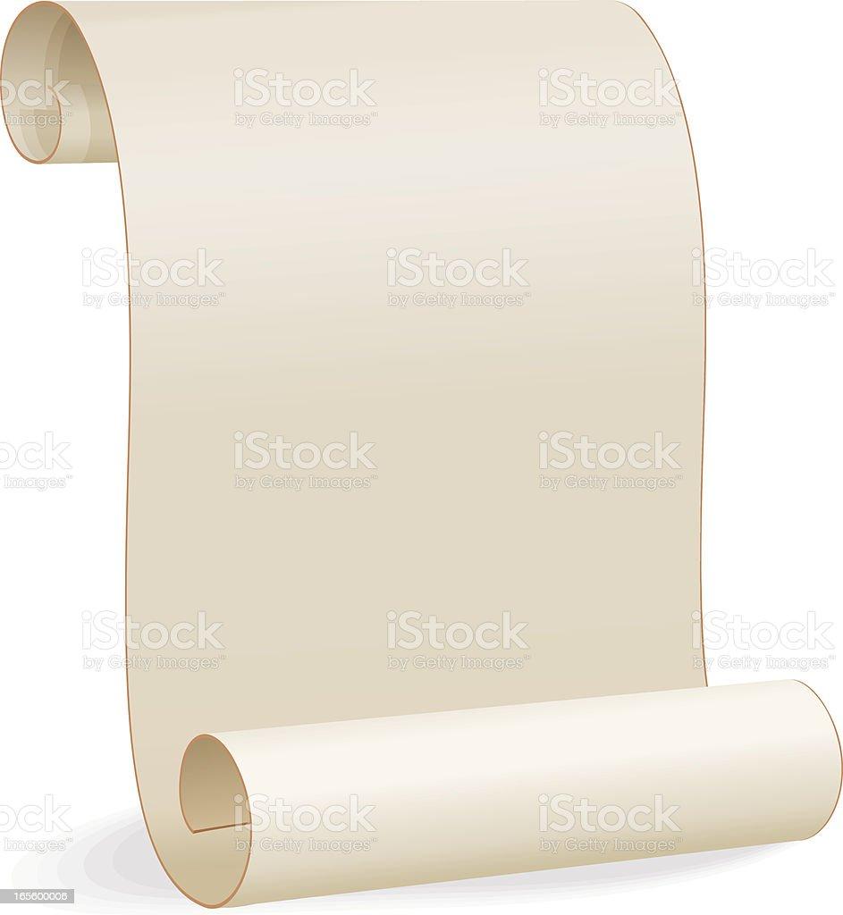Blank Paper Scroll vector art illustration