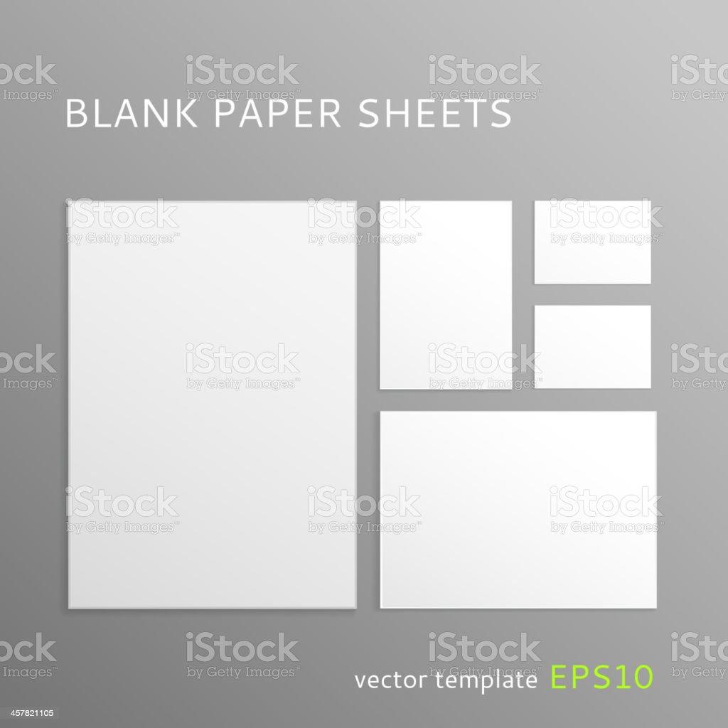 Blank paper sheet vector art illustration
