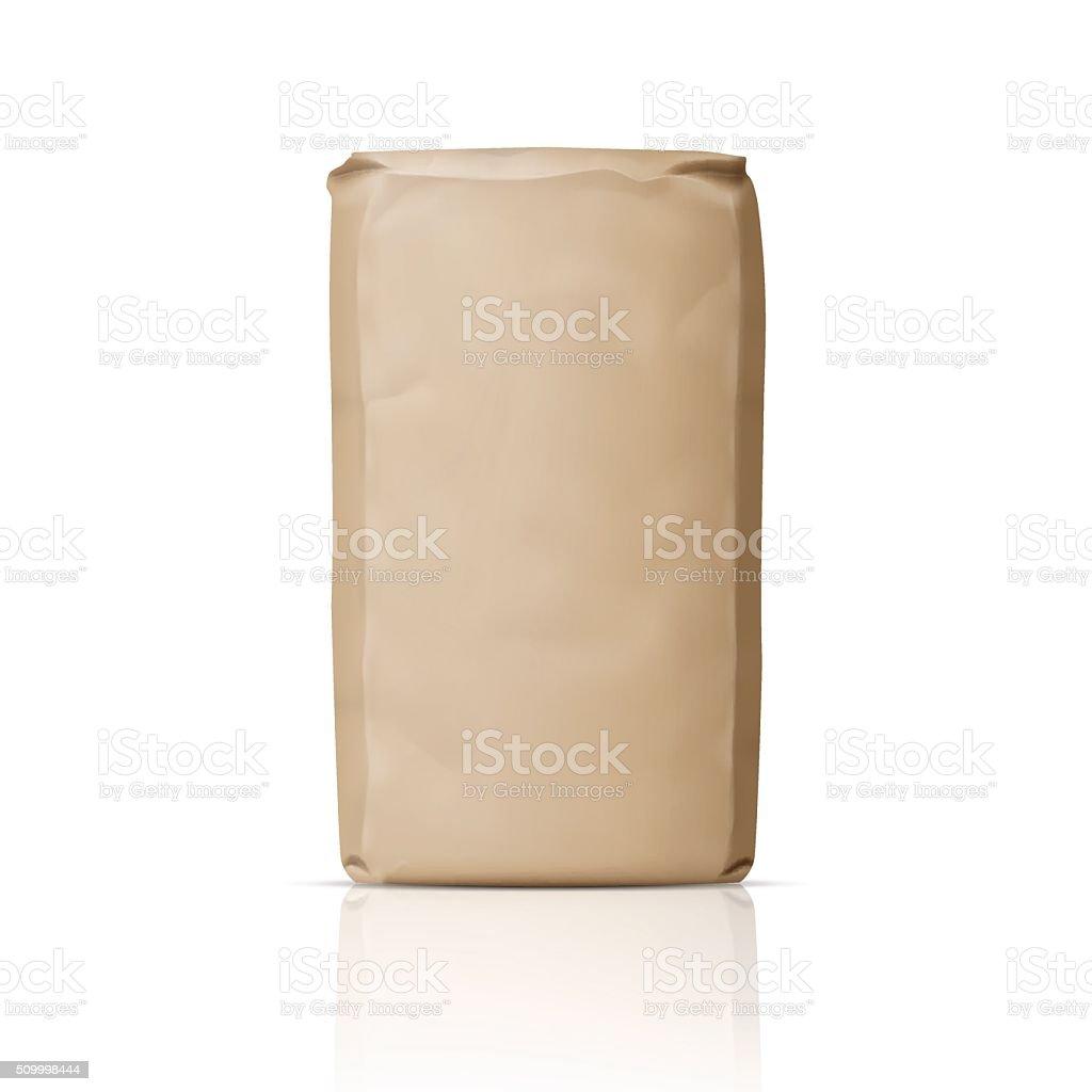 Blank paper sugar bag. vector art illustration