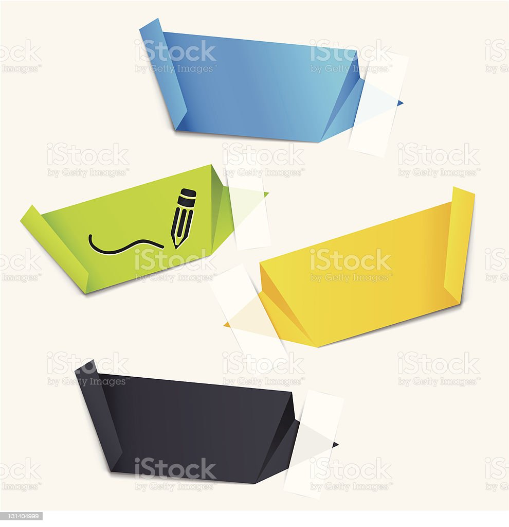 blank paper tags royalty-free stock vector art