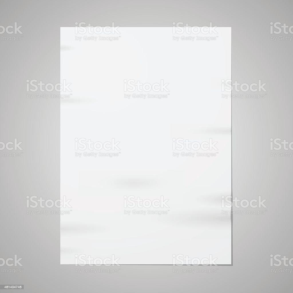 Blank paper vector art illustration