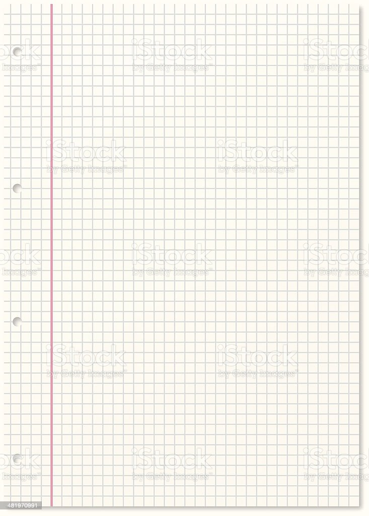 Blank paper royalty-free stock vector art