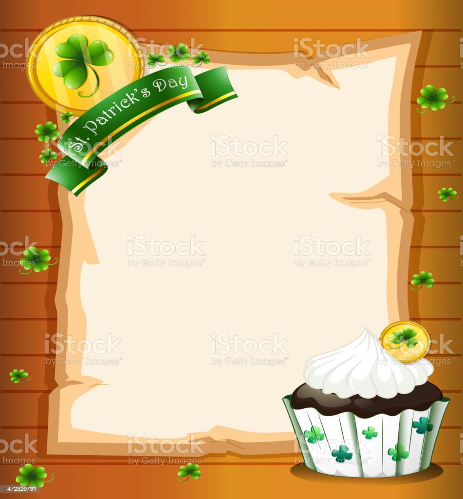 blank paper with a St. Patrick's Day greeting royalty-free stock vector art