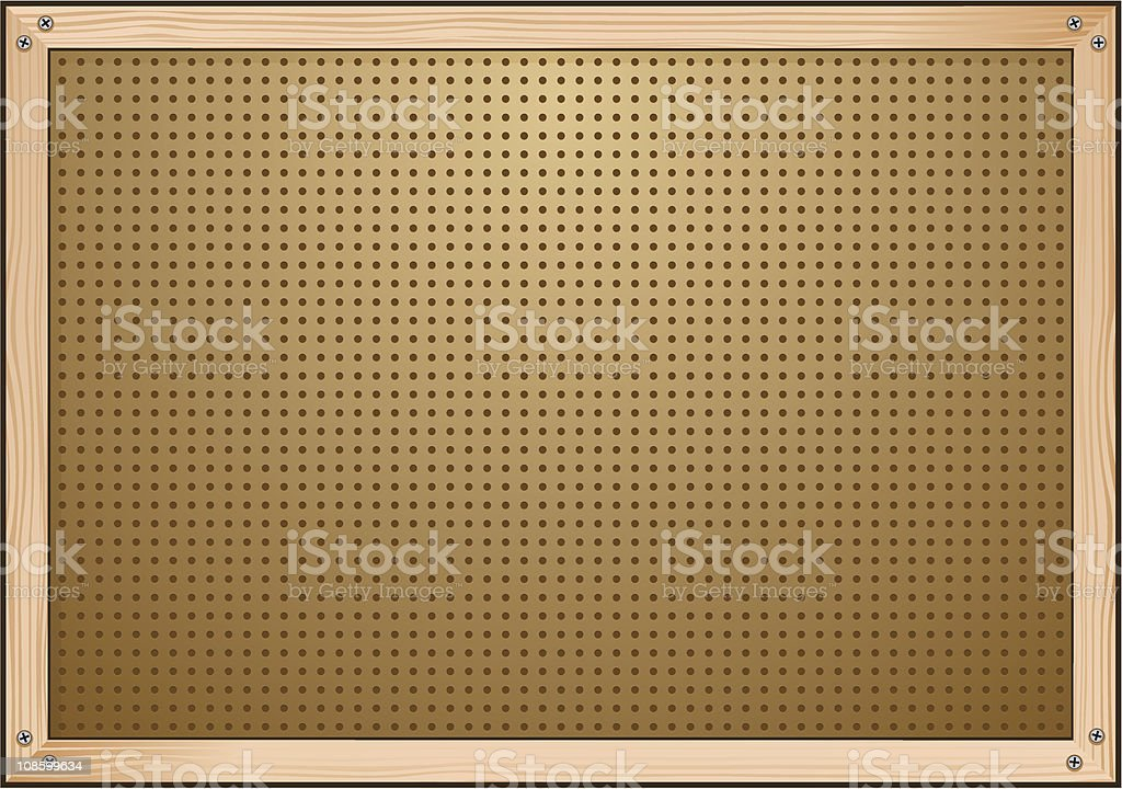 Blank Pegboard royalty-free stock vector art