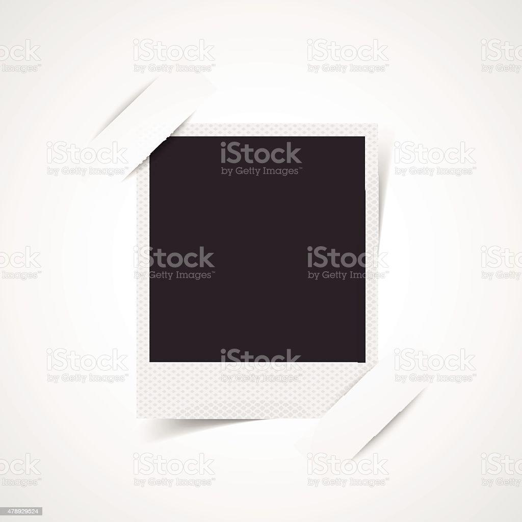 Blank photo frame corner vector art illustration