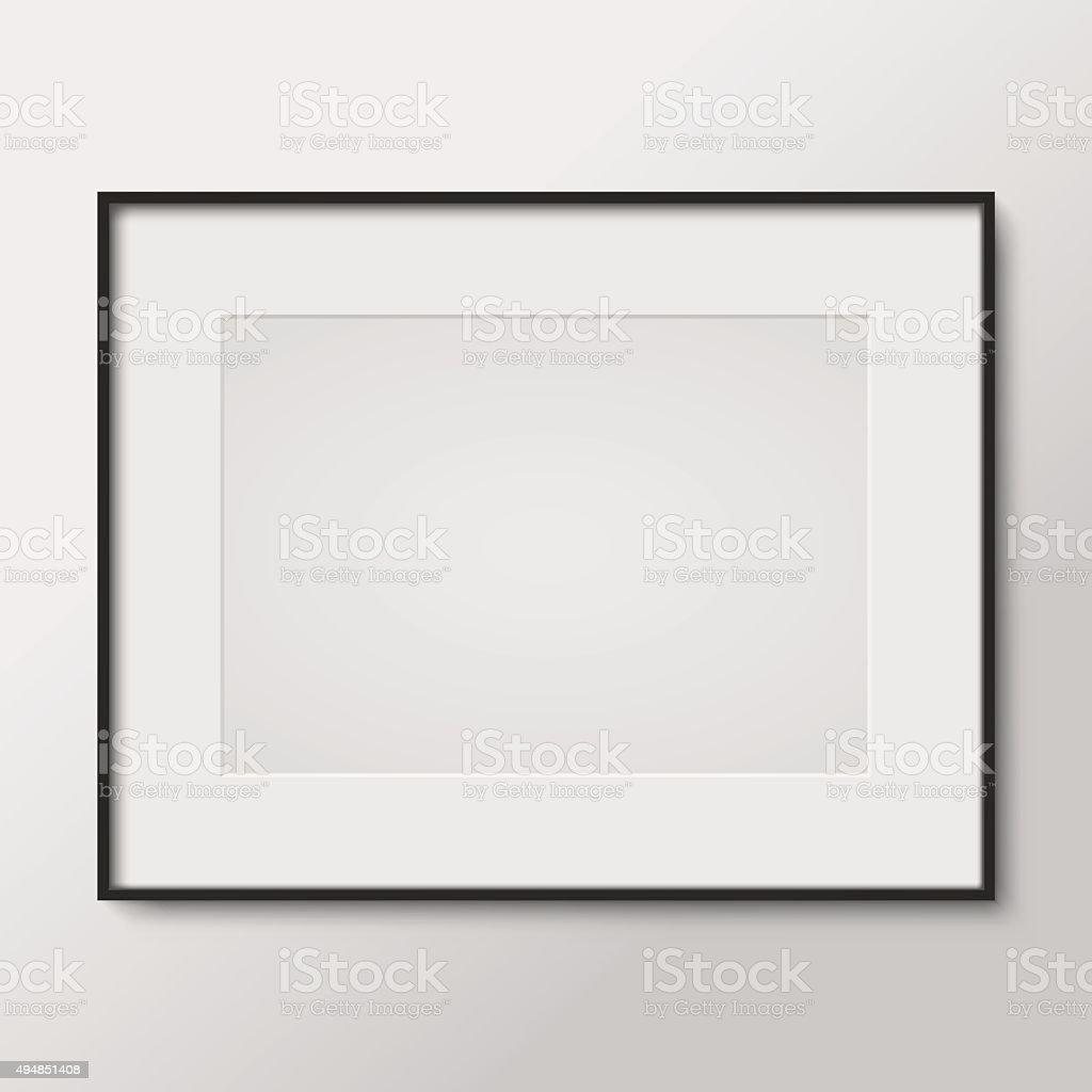 Blank photo frame vector art illustration