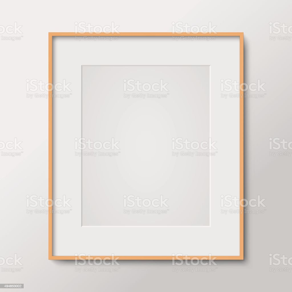 Blank photo frame vector art illustration