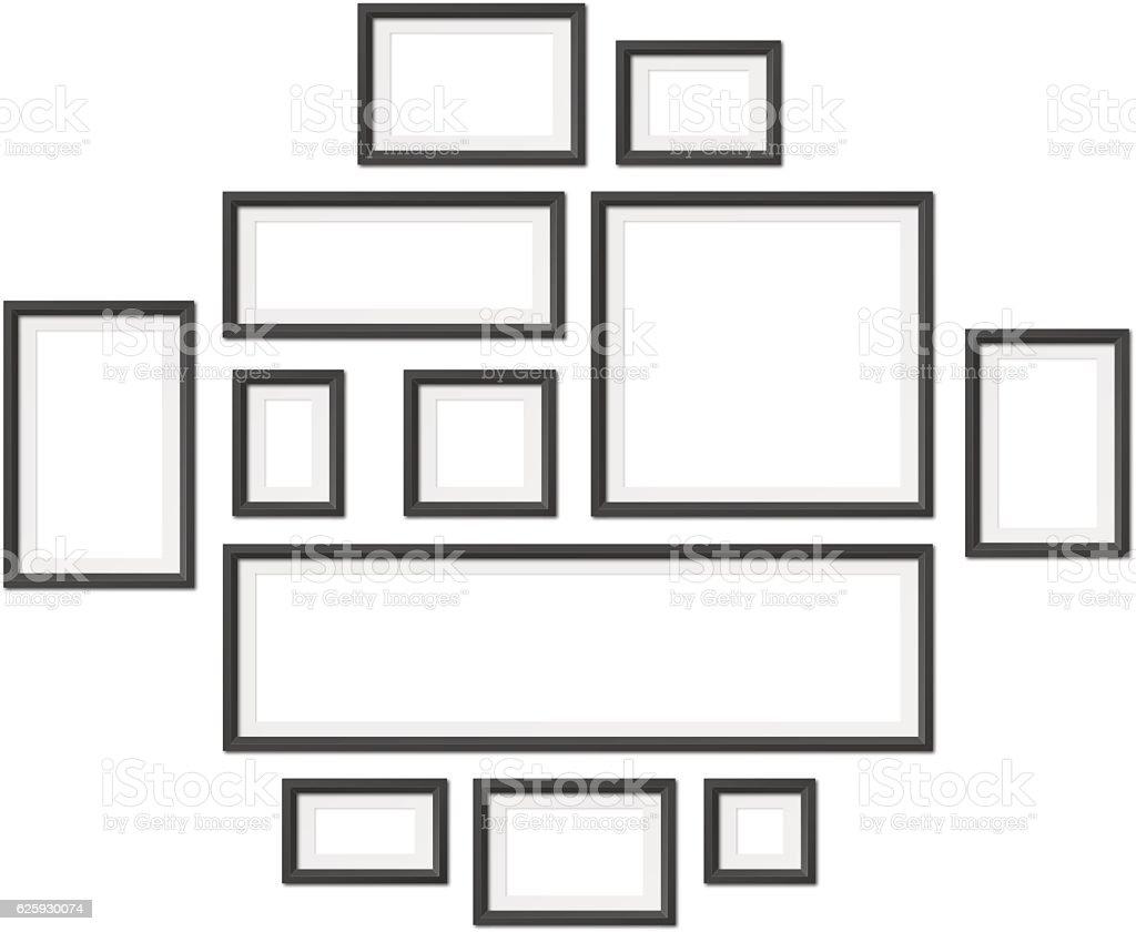 Blank Photo Frames vector art illustration