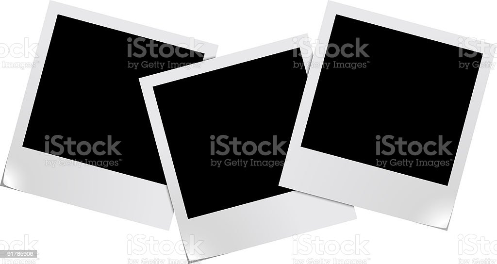 Blank photo frames royalty-free stock vector art
