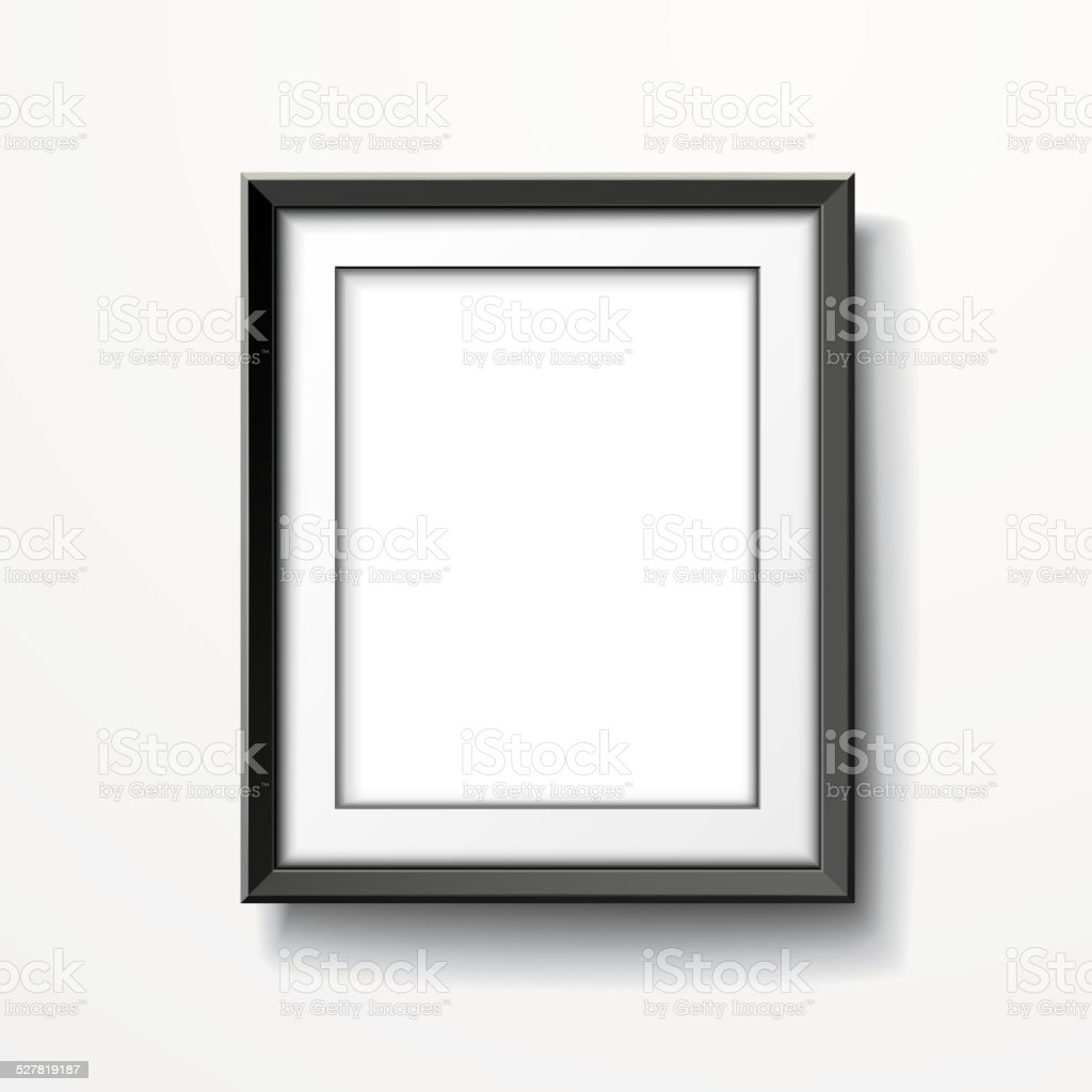 blank picture frame isolated on white vector art illustration
