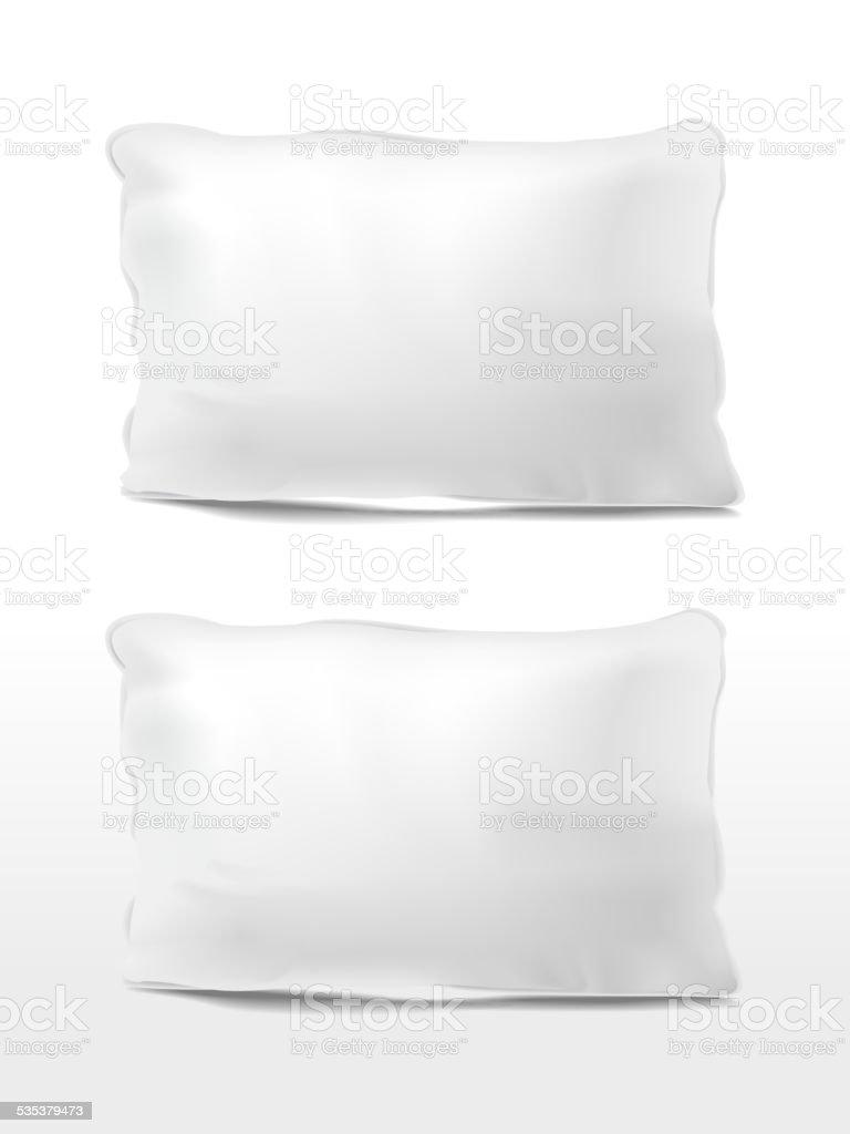 blank pillows set vector art illustration