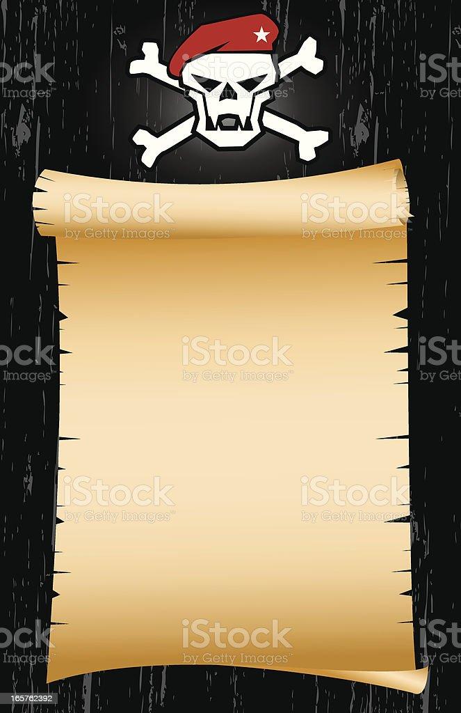 Blank Pirate Map Art vector art illustration