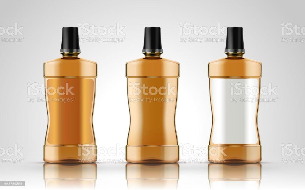 blank plastic bottles vector art illustration