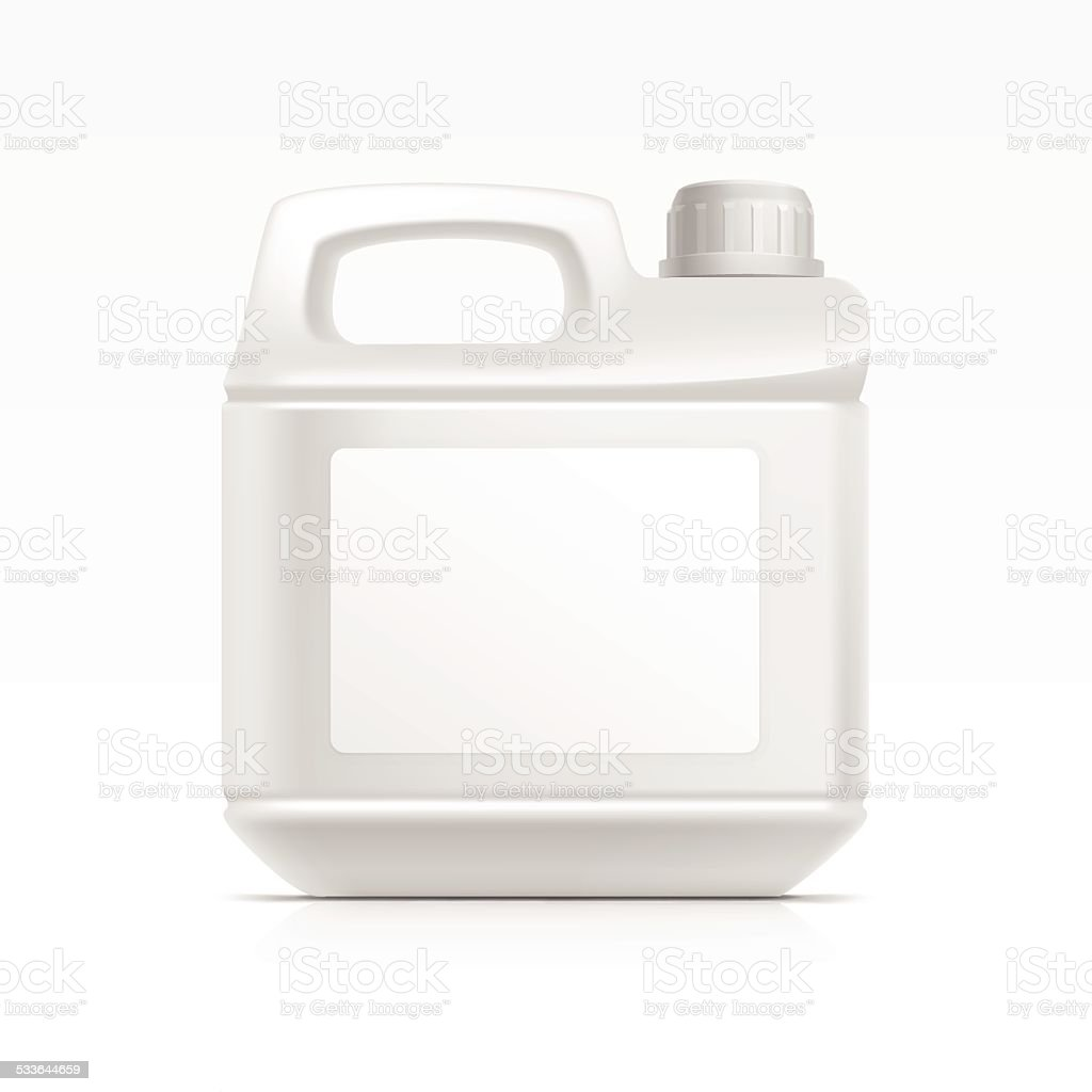 Blank Plastic  Canister Gallon for Oil Cleanser Detergent Abstergent Isolated vector art illustration