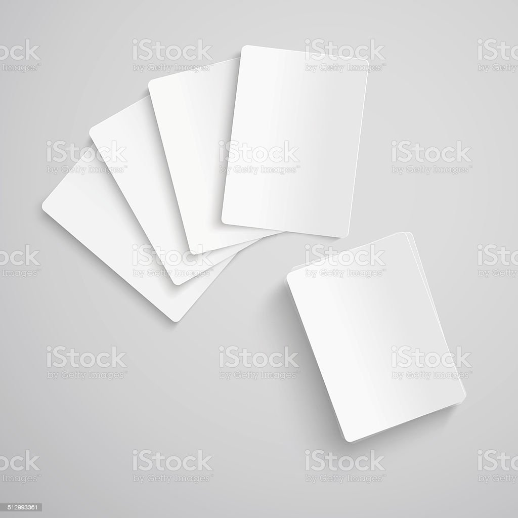 Blank playing cards vector art illustration