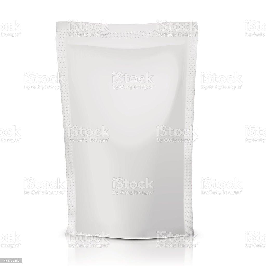Blank polythene bag package. vector art illustration