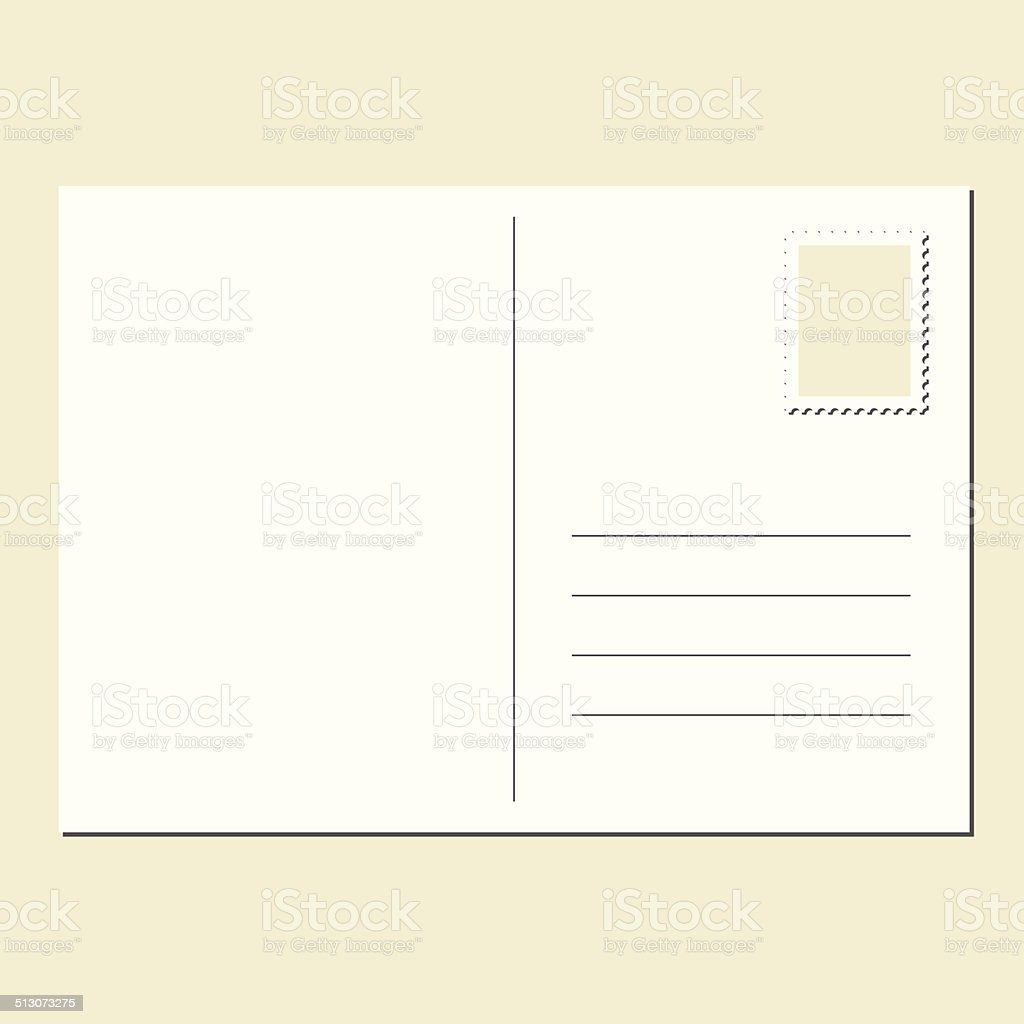 Blank postcard vector art illustration