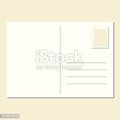Бланк открытки пустой 72