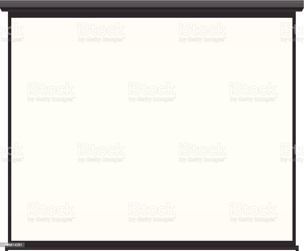 Blank projection screen vector vector art illustration