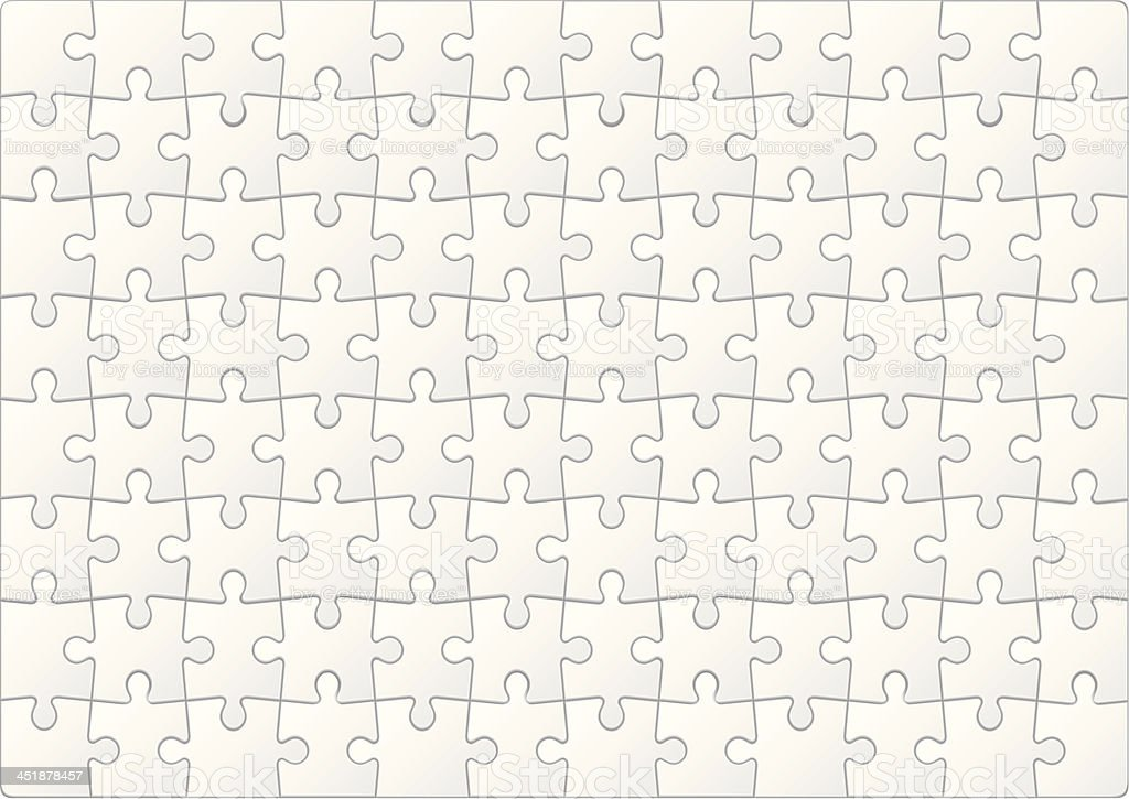 Blank puzzle with small white pieces vector art illustration