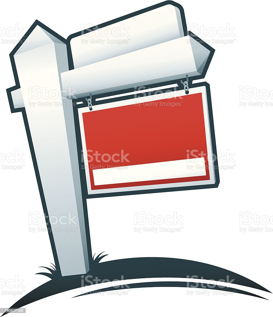 Blank Real Estate Sign royalty-free stock vector art