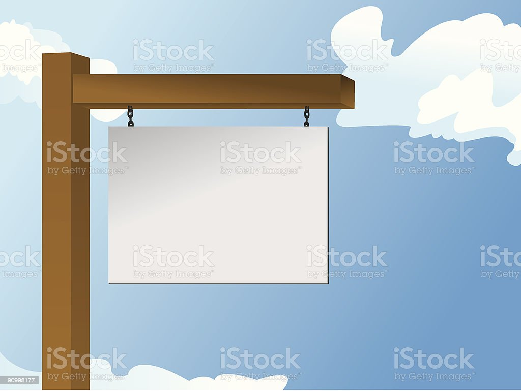 Blank Realty Sign royalty-free stock vector art