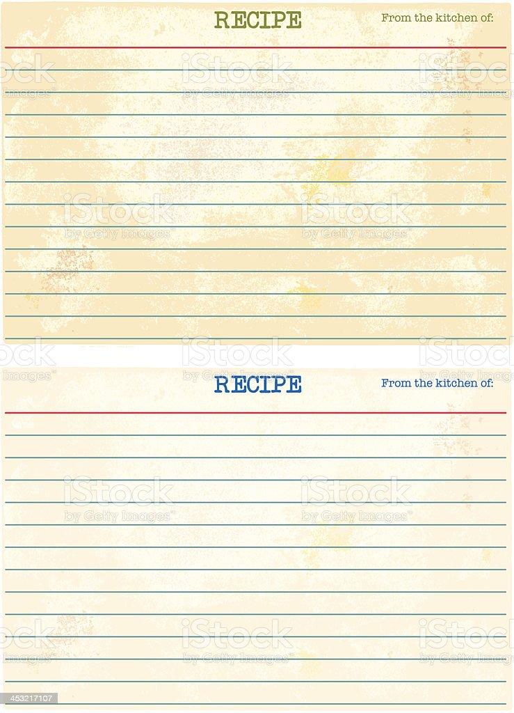 Blank Recipe Cards royalty-free stock vector art