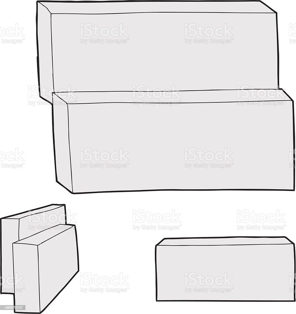 Blank Rectangular Boxes royalty-free stock vector art