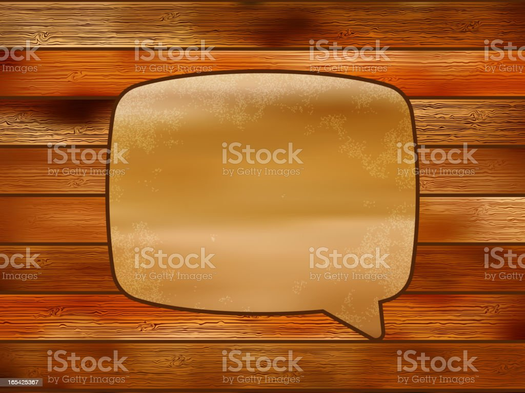 Blank Recycle paper Speech Bubble.  + EPS8 royalty-free stock vector art