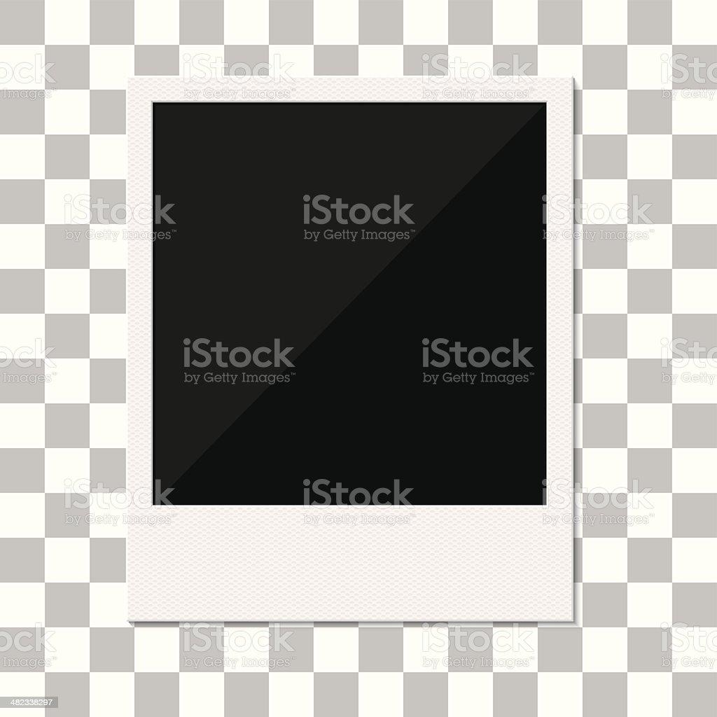Blank retro polaroid photo frame. vector art illustration
