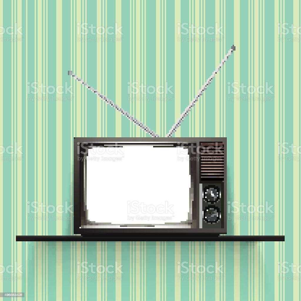 Blank retro tv  Realistic Vector Illustration. vector art illustration