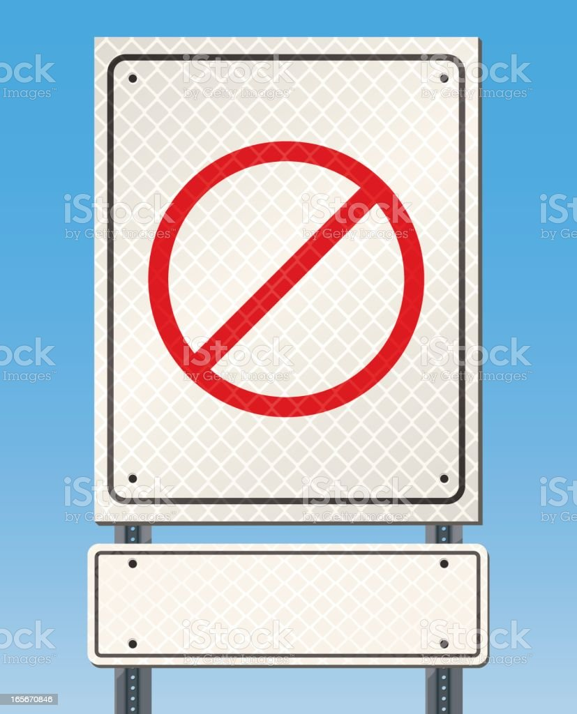Blank Road or Street Sign royalty-free stock vector art