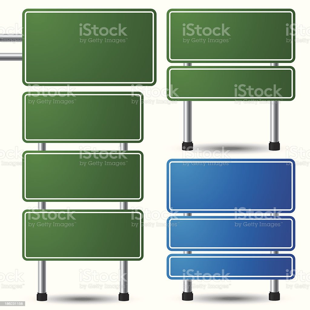 Blank road sign royalty-free stock vector art
