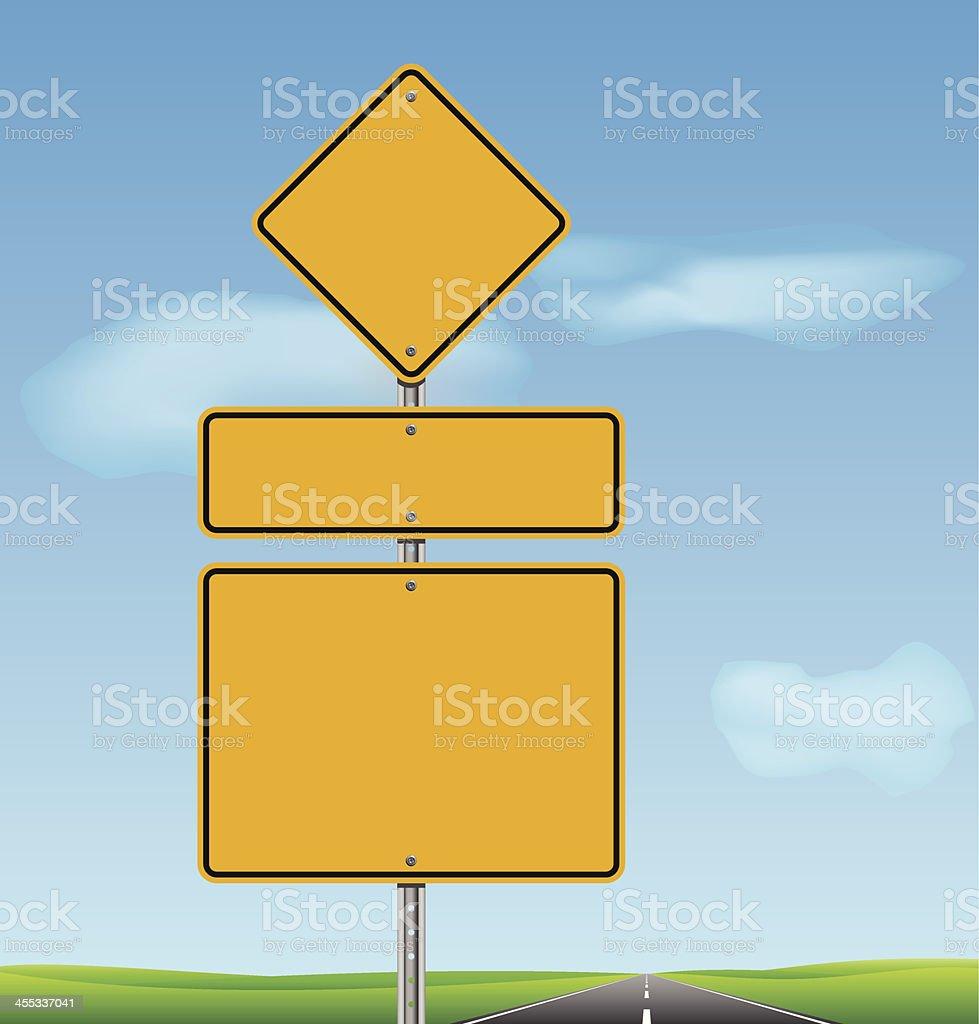 Blank Road Sign vector art illustration