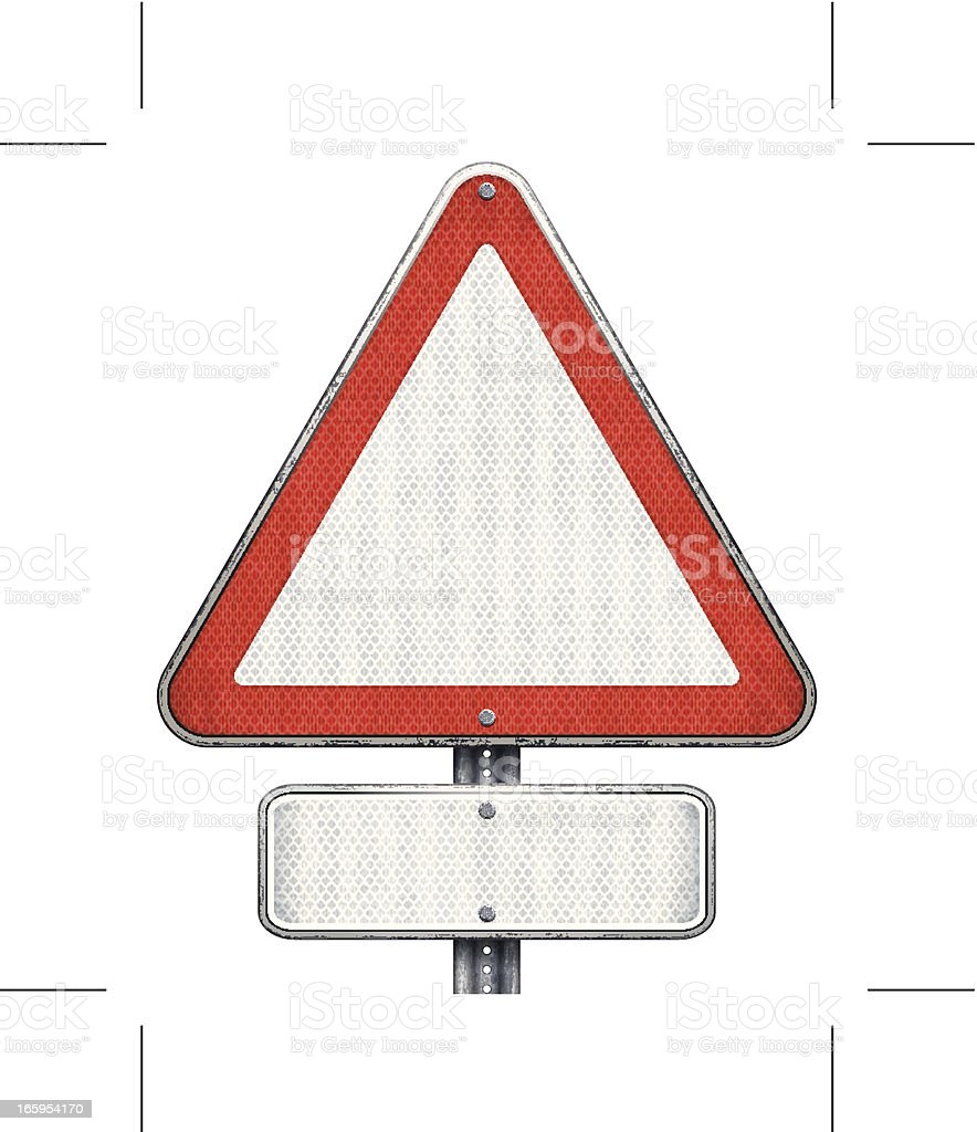 blank road signs (triangular and rectangular) royalty-free stock vector art