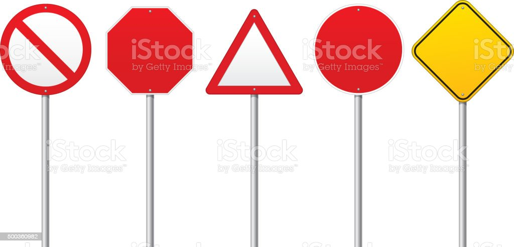 Blank Road signs vector art illustration