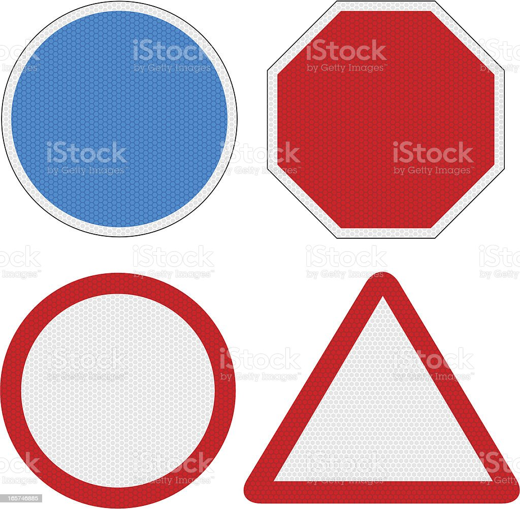 Blank Road Signs with reflection detail royalty-free stock vector art