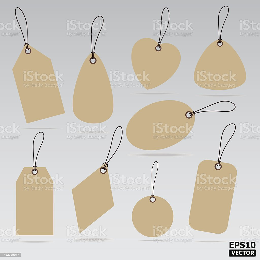 Blank sale tags. royalty-free stock vector art