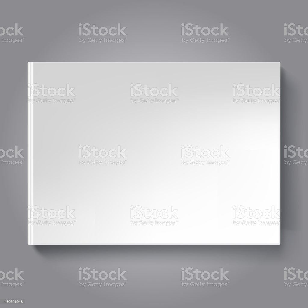 Blank scrapbook cover template. Horizontal oriented book. vector art illustration