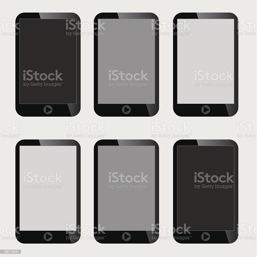 Blank Screen Smart Phone. royalty-free stock vector art