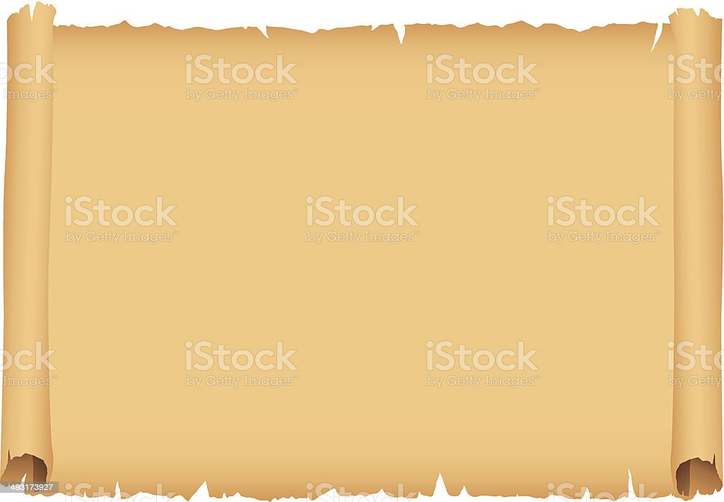 Blank Scroll vector art illustration